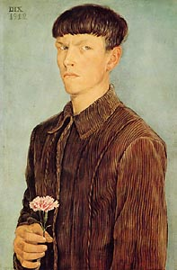 Self Portrait, 1912 by Otto Dix
