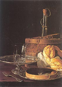 Still-Life with a Box of Sweets and Bread Twists, 1770 by Luis Melendez
